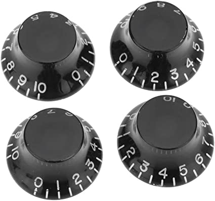 Black Bell Hat Knob Set Fits Gibson USA Guitars Set of 4