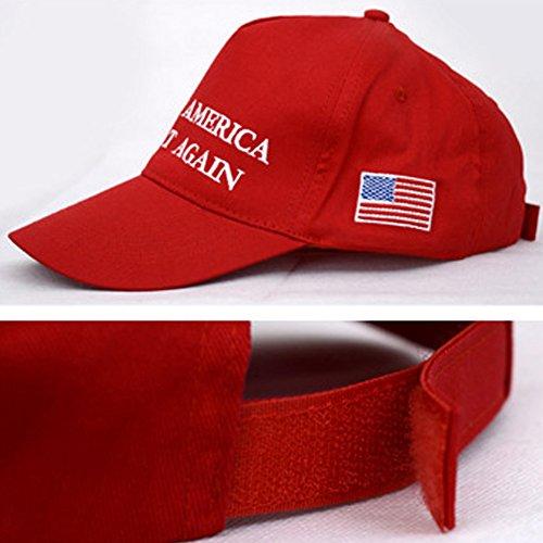 Dutch Brook Adult Adjustable Baseball Cap Trump Make America Great Again (Red)