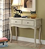 ComfortScape Sia 2 Drawer Storage Hallway Table in Antique White