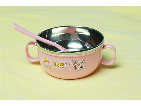 Desayuno vajilla Tazón de fuente de alimentación del bebé Cuenco de aislamiento del plato de los