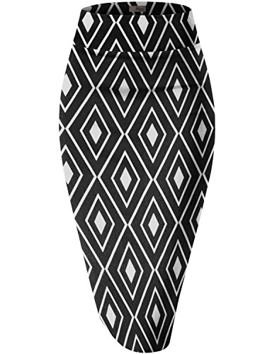 - Womens Pencil Skirt for Office Wear KSK43584X 10672 Black 3X