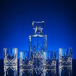 Broadway Lead-Free Crystal 1 Carafe + 4 Glasses Set