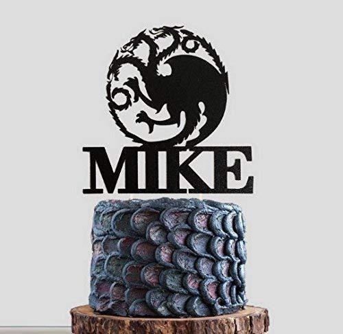Dragon cake topper, Personalized GOT House Targaryen Cake Topper, GOT Birthday, GOT Party, Winter is Coming, GOT Wedding