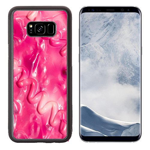 Luxlady Samsung Galaxy S8 Plus S8+ Aluminum Backplate Bumper Snap Case IMAGE ID 25201524 abstract background of red mayonnaise