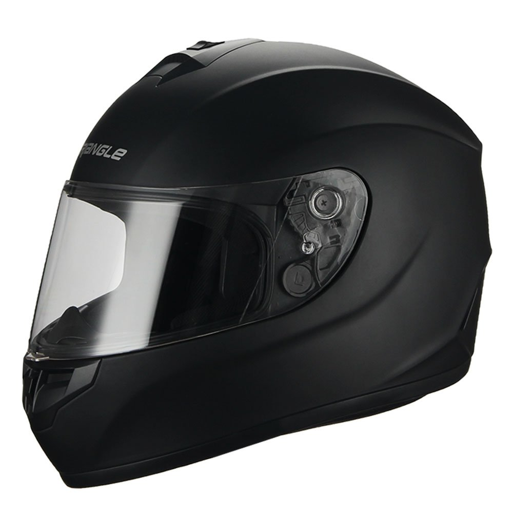 Triangle Full Face Black Street Bike Motorcycle Helmets [DOT] (X-Large, Matte Black) … by TRIANGLE