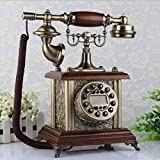 HomJo Antique Telephone Vintage Antique Style rotary dial Resin metal Corded Telephone Home Living Room Decor , 2