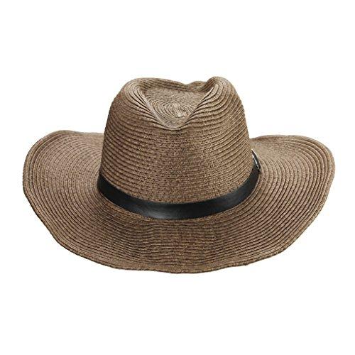Tipo panam/á Plegable y ajustable mediante cinta Protecci/ón frente a rayos UVA Sombrero de vaquero para hombres Ala ancha