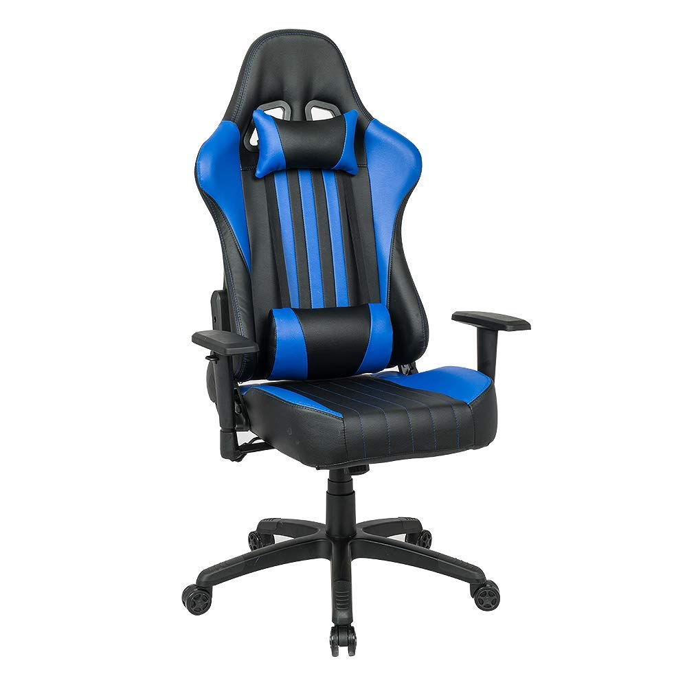 Stupendous Qwork Gaming Chair Racing Style Large Size High Back Ergonomic Soft Pu Multi Function Office Chair With Adjustable Arms Headrest And Lumbar Support Bralicious Painted Fabric Chair Ideas Braliciousco