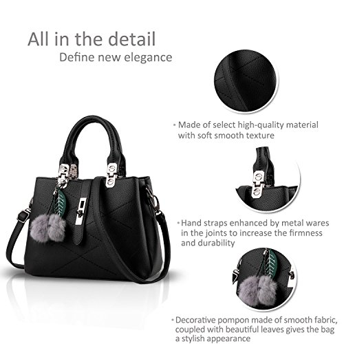 Cross Designer Handbags Leather Ladies Grey 1 Women with For The body Handle Vintage Best Handbag Bow Bag p1YqRY