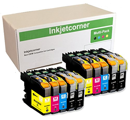 Inkjetcorner 10 Pack Compatible Ink Cartridges Replacement for Brother LC203 LC203XL MFC-J485DW MFC-J680DW MFC-J880DW MFC-J885DW with Version 2 (10 Brother Ink)