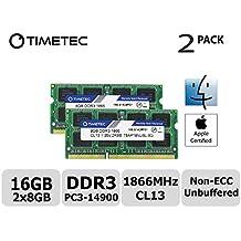 Timetec Hynix IC Apple 16GB Kit (2x8GB) DDR3L PC3L-14900 1866MHz for iMac 17,1  w/Retina 5K display (27-inch Late 2015) A1419 (EMC 2834) MK462LL/A, MK472LL/A, MK482LL/A (16GB Kit (2x8GB))