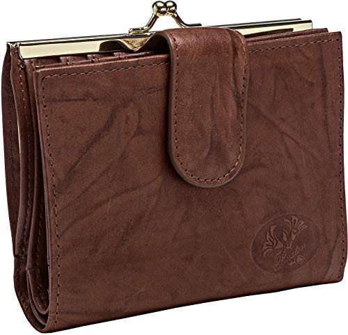 Buxton RFID Double Cardex Wallet One Size Mahogany brown