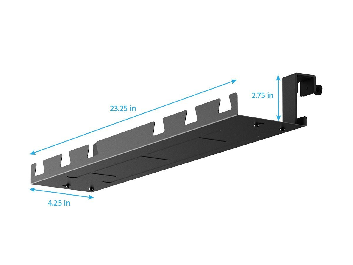Monoprice Cable Tray Organizer - Black | Under Desk Cord Management, Ideal For Work Computer Tables, Home and Office Sit-Stand Desks by Monoprice (Image #2)