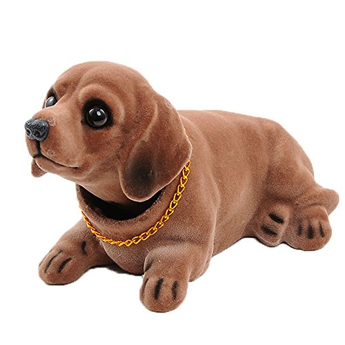 Ebow Dashboard Head Dogs Nodding Heads Car Dash Puppy for Car Vehicle Decoration (Dachshund)