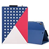 iPad Pro 12.9 Case, Homelove [American Flag Design] Premium PU Leather Case with [Multiple Stand Angles] [Card Holders] [Note Pocket] for Apple iPad Pro 12.9 inch Red+White