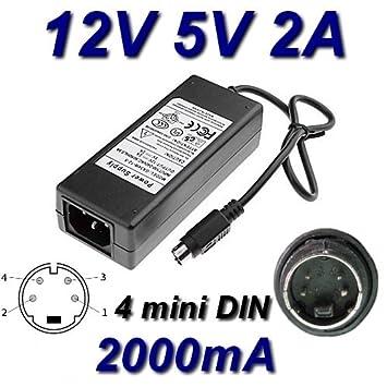 Adaptador Alimentación Cargador 12 V 5 V 2 a 4 pin Mini DIN ...