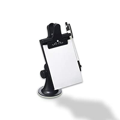 VaygWay Car Note Pad Holder-Memo Pad Clip Pen Clipboard- Mount Dashboard Suction Flexible Neck- Office Paper Notebook Writing: Automotive