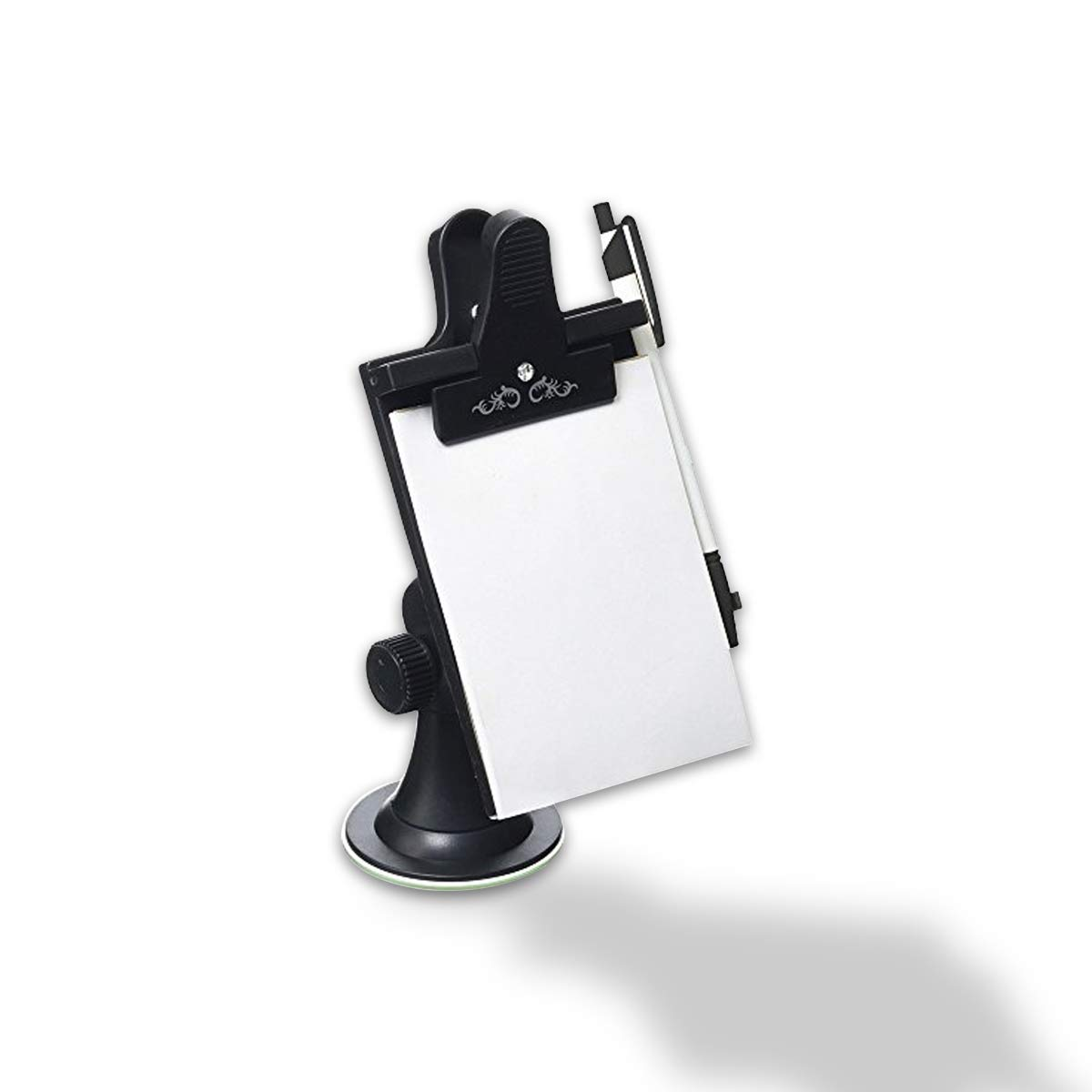 VaygWay Car Note Pad Holder-Windshield Dashboard Memo Pad Lists- Driving Suction Adjustable Notebook Holder