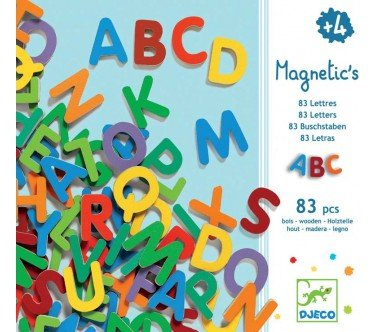 Djeco Magnetic Letters - 83 1.2'' Tall Upper Case Letters