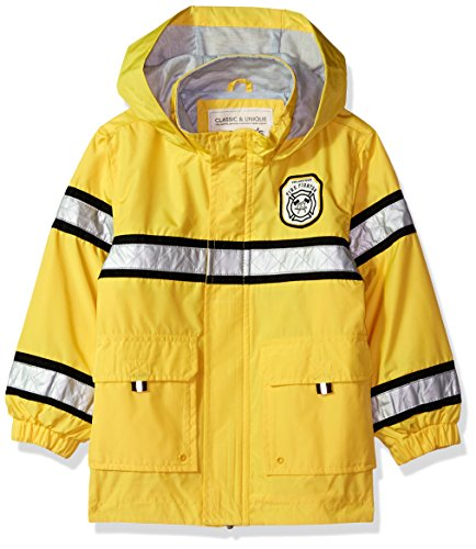 Carter's Toddler Boys' Little Man Rainslicker Rain Jacket, Fireman Yellow, 2T
