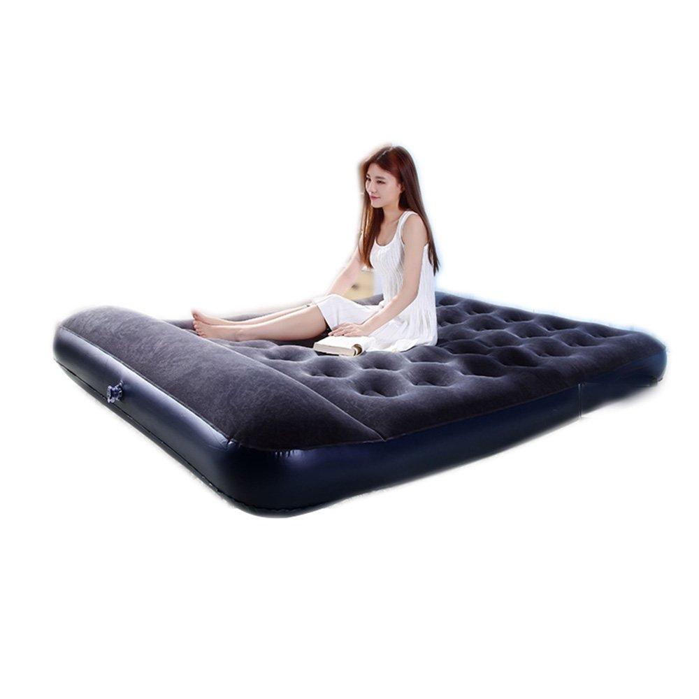 Sheng Camouflage aufblasbare Matratzen home doppelte quilt Bett im Freien portable Luftbett Camping Zelt aufblasbare Bett ( Farbe : Schwarz , größe : 13719122cm )
