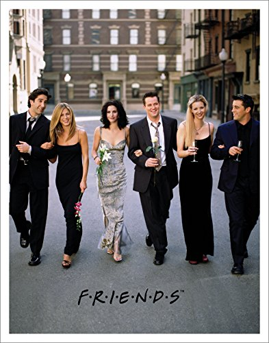 Friends Dressed Up TV Romantic Sitcom Television Show Postcard Poster Print, Unframed 11x14