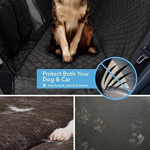 Funda protectora para asiento trasero de perro 900D con malla de visualización y bolsillo de almacenamiento, resiste agua y antiarañazos para protección del asiento trasero, para todo tipo de vehículo 6