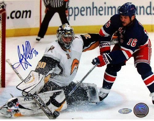 Ryan Miller Kick Save vs Sean Avery Autographed Signed 8x10 Photo - Authentic Signature ()