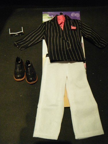 Ken Action Man GI Joe Doll Clothing Outfit Stripped Tuxedo Evening Gangster Suit Outfit & Shoes posted from London By Fat-catz by (Gangster Outfits For Men)
