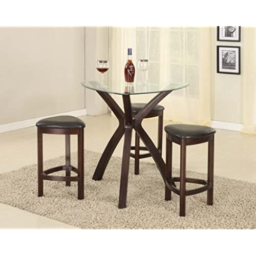 Triangle Kitchen Table Triangle dining table amazon roundhill furniture 4 piece triangle solid wood bar table and stools set espresso workwithnaturefo