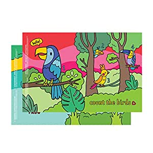 Munchkin Story Mat, BPA Free Disposable Placemats for Kids, 18 Pack, 2 Designs