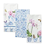 Maison d' Hermine Canton 100% Cotton Set of 3 Kitchen Towels 20 Inch by 27.50 Inch