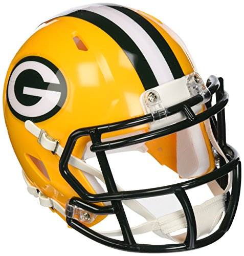 Riddell Revolution Speed Mini Helmet - Green Bay Packers (Football Revolution Nfl Helmet)