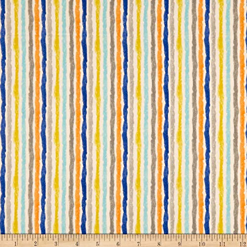 3 Wishes Fabric Purrfect Pals Furry Stripes Fabric, Multicolor, Fabric By The Yard (Furry Pal)