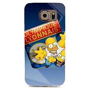 Comical Dolls Pattern UEFA Champions League Olympique Lyonnais Football Club Phone Case For Samsung Galaxy S6 Edge