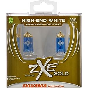 SYLVANIA 9003 SilverStar zXe GOLD Halogen Headlight Bulb (Contains 2 Bulbs) - 9003SZG.PB2