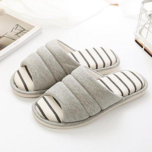 pantoufles antidérapants à épaisses chaussons D femmes intérieur couple maison en Longless slip d'hiver hommes la coton fUaqwOOdH
