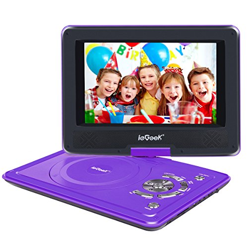"""ieGeek 12.5"""" Portable DVD Player with 360° Swivel Screen, 5"""