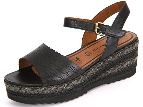 Tamaris Women's 1-1-28370-28/001 Fashion Sandals Black paHq81cos