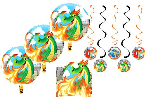 Creative Converting Dragon Birthday Party Decorations Kit