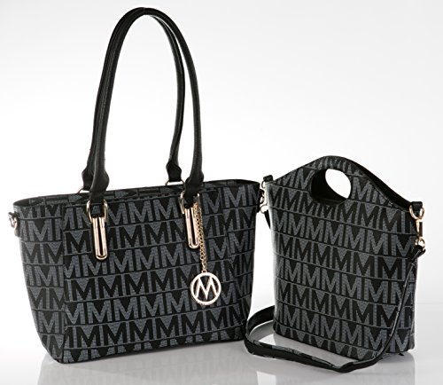 MKF Collection Casey M Signature 2-Piece Set Tote/Crossbody Bags by Mia K (Signature 2 Pocket Tote)