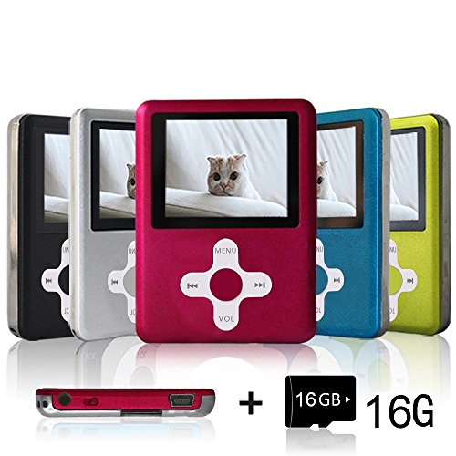 Lecmal MP3 / MP4 Player, Economic Multifunctional Music Player Portable MP3 / MP4 Player with 16GB Micro SD (Flash Mp3)