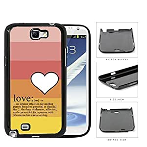 Definition Of Love With Pastel Colors Hard Plastic Snap On Cell Phone Case Samsung Galaxy Note 2 II N7100