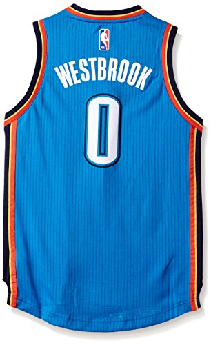 NBA Oklahoma City Thunder Russell Westbrook Boys Player Swingman Road Jersey, Medium (10-12), Bright Royal Thunder Jersey