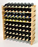 Modular Wine Rack Beechwood 32-96 Bottle Capacity 8 Bottles Across up to 12 Rows Newest Improved Model (64 Bottles - 8 Rows)