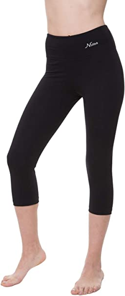 Amazon.com: NIRLON Capri Leggings para mujer de cintura alta ...