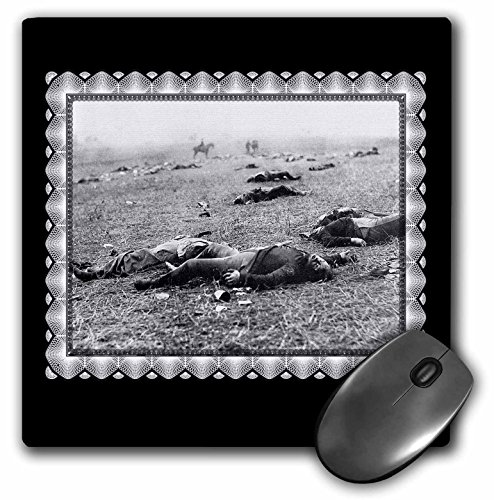 (3dRose BLN Vintage Photographs of History and People 1800s - 1900s - The Harvest of Death - Battlefield of Gettysburg, July 1863 taken by T H O Sullivan Civil War Photo - MousePad (mp_160769_1))