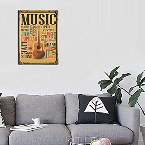 Música Guitarra Modelos B Cartel Decoración para el hogar ...