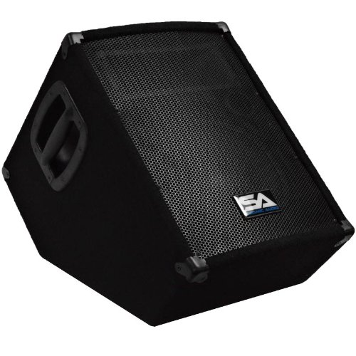 Seismic Audio - SA-10MT-PW - Powered 2-Way 10'' Floor / Stage Monitor Wedge Style with Titanium Horn - 250 Watts RMS - PA/DJ Stage, Studio, Live Sound Active 10 Inch Monitor by Seismic Audio