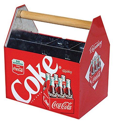 Retro Coca-Cola Coke Galvanized Embossed Metal Napkin Holder